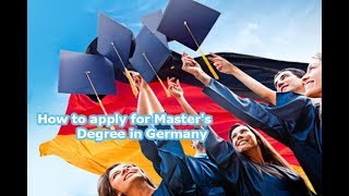 channel  Education lHow to apply for Master's Degree in Germany
