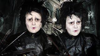 Edward Scissorhands - Wax Free Scars! - Makeup Tutorial!