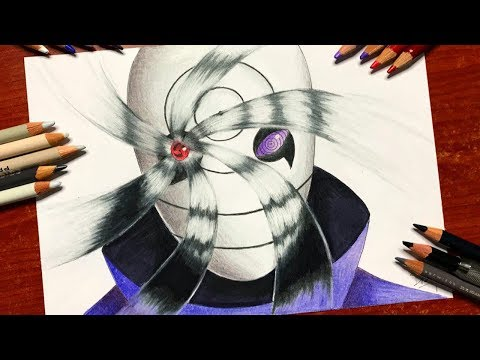 Speed Drawing - Obito Uchiha's Mangekyou Sharingan (Naruto Shippuden) [HD]
