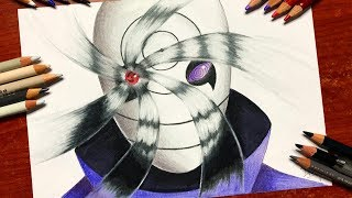 Speed Drawing - Obito Uchiha's Mangekyou Sharingan (Naruto Shippuden) [HD]