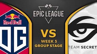 OG vs SECRET - GAME OF THE DAY! - EPIC LEAGUE 2020 Dota 2 Highlights