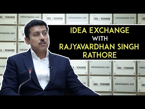 Idea Exchange With Sports Minister Rajyavardhan Singh Rathore