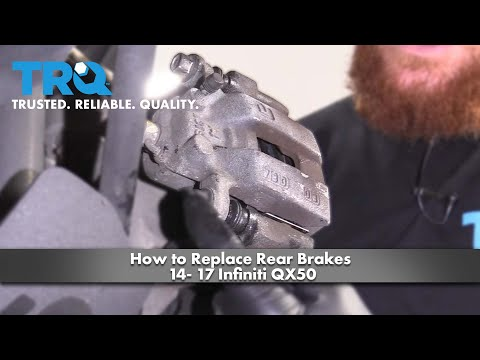 How to Replace Rear Brakes 14- 17 Infiniti QX50