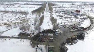 Строительство моста в городе Костанай, Казахстан