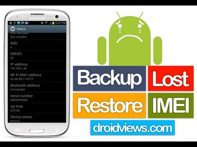 How to Backup IMEI and NVRAM on any Android device