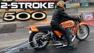 THE STORY BEHIND THIS LEGENDARY KAWASAKI TWO STROKE DRAG BIKE! FIRST H1 500 TRIPLE IN THE 9s!