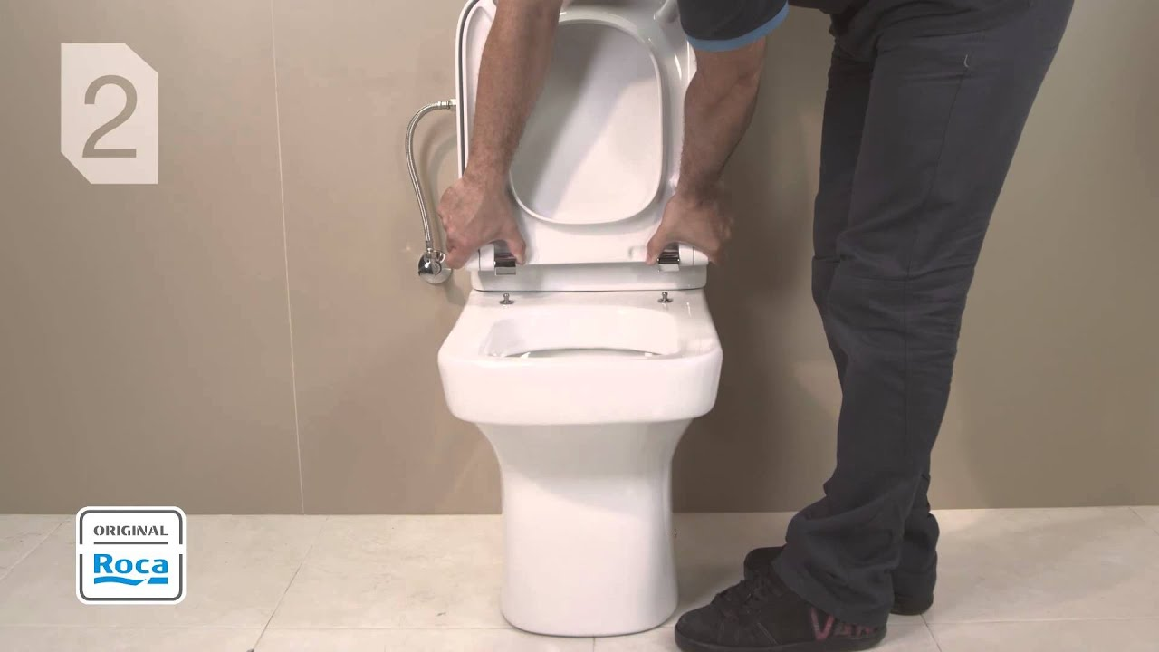 wc seat and cover installation roca