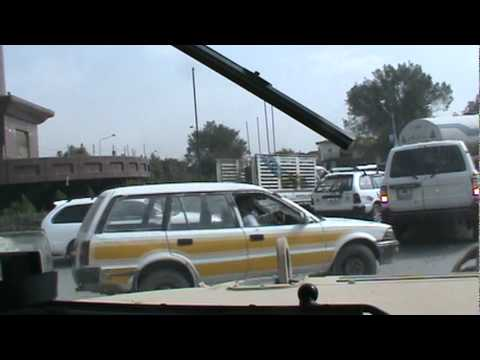 Convoy to airport in Kabul