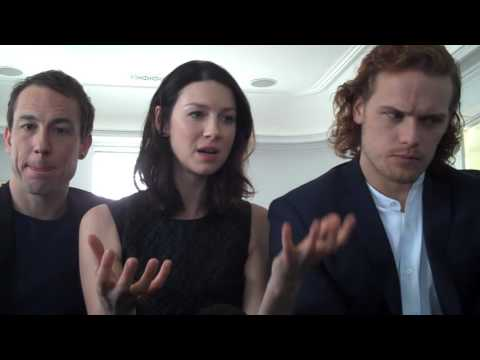 Outlander Stars Caitriona Balfe,Sam Heughan & Tobias Menzies on Love