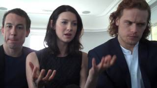 Outlander Stars Caitriona Balfe,Sam Heughan & Tobias Menzies on Love