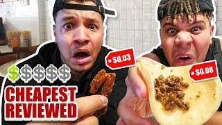Eating At The CHEAPEST Reviewed Restaurant!! (Found FOOD Under 9 Cents) FT WOLFIE