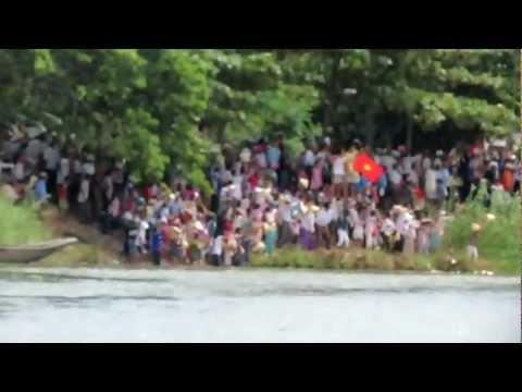 [30/08/2012]Clip 6- Lễ hội bơi đua thuyền truyền thống trên sông Kiến Giang
