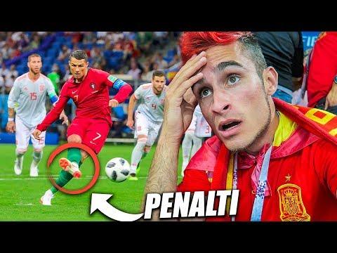 REACCIONANDO AL PENALTI DE CRISTIANO RONALDO (ROBO!?)| Portugal 3 - 3 España | WORLD CUP 2018