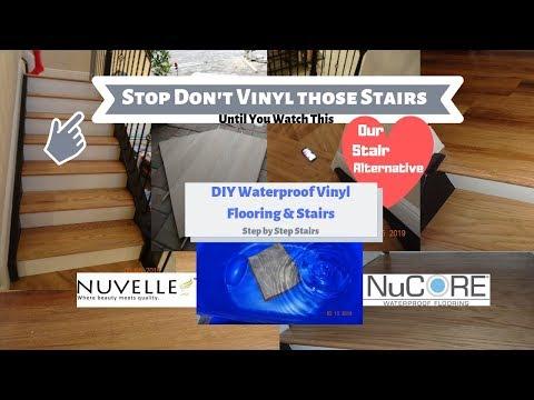 DIY Waterproof Vinyl Flooring Stairs / Wood Stair Alternative / How to Install Nucore Like Flooring