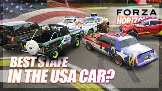 Forza Horizon 4 - What is the Best State in the USA? (Infection Challenge)