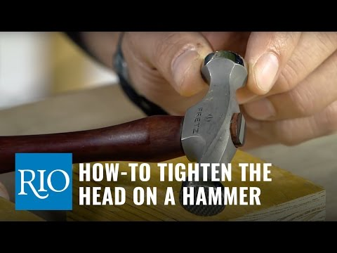 How-to Tighten the Head on a Jewelers Hammer
