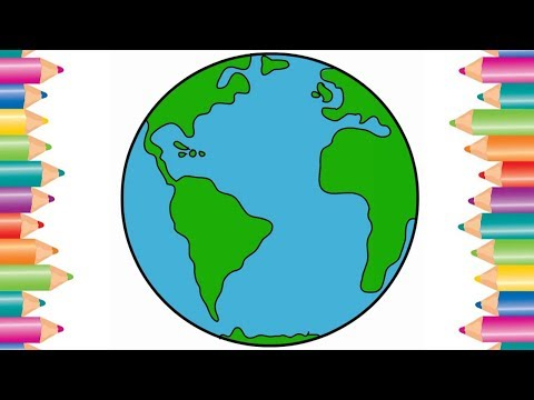 How to Draw World Map  | Kids Drawing  | Fun with Color | Drawing for kids | Color Pen