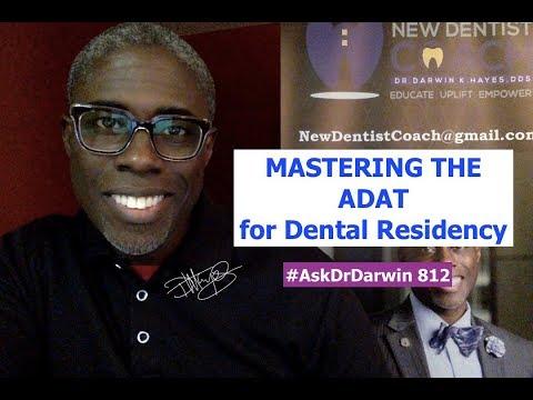 Mastering the ADAT for Dental Residency | #AskDrDarwin 812 | Dr Darwin Hayes DDS