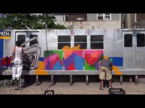 Mural kings Tats Cru take on the Radio 4 logo