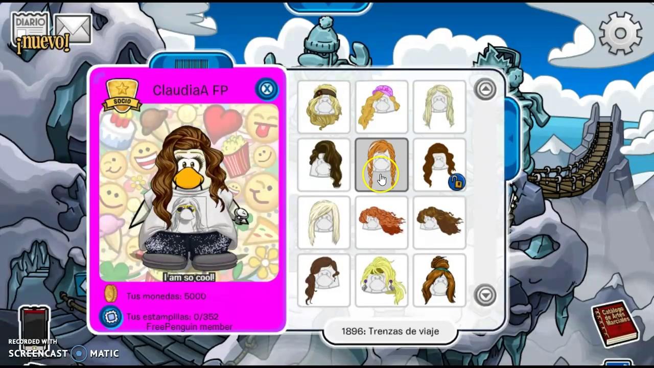 codigos de free penguin pelo de mujer