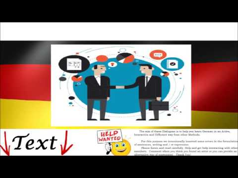 Business Meeting – Geschäftstermin - German Audio Mp3 Dialogue for Intermediate and Advanced Level