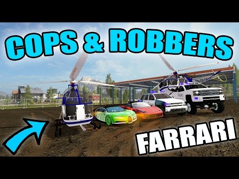 FARMING SIMULATOR 2017 | COPS & ROBBERS | HELICOPTER + FERRA