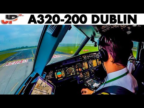 Piloting Airbus A320 Out Of Dublin + Power Up 1st Flight Of The Day