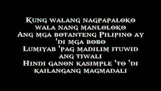 Dapat Tama - Gloc-9 ft. Denise Barbacena - Official Lyrics Video
