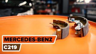 MERCEDES-BENZ CLS Fékpofakészlet rögzítőfék beszerelése csináld-magad - videó útmutatók