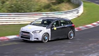 2016 Ford Focus RS mule testing on the Nurburgring!