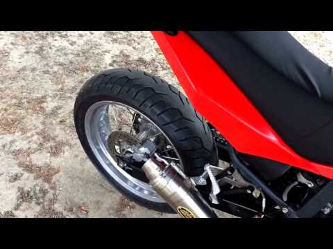 Beta M4 350 full exhaust Galassetti sound scarico SM Supermoto
