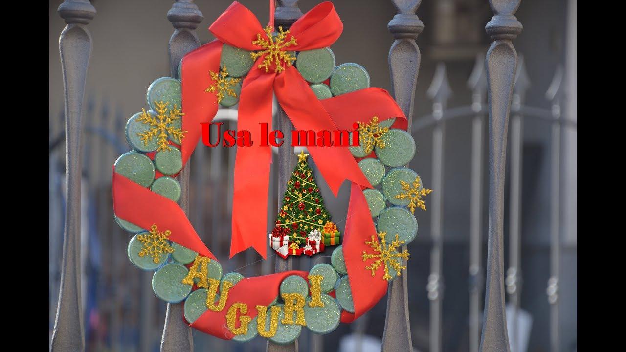 Idee Di Riciclo Per Natale riciclo creativo: decori di natale coi tappi di plastica