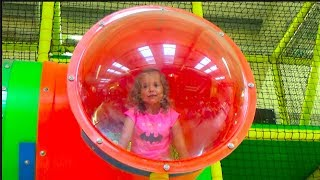 Learn Colours with Indoor playground for kids Nursery rhymes songs Bad baby education video