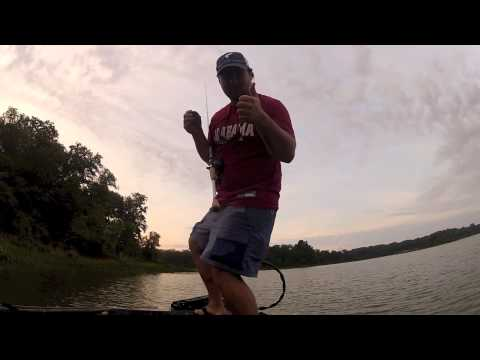 Russell Jones With BassFishing Underground Fishing, Catching Bass With The Flipping Sticks.