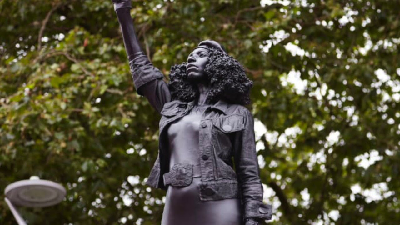 BRITISH ARTIST ERECTS STATUE OF BLM PROTESTOR THAT EMASCULATES BLACK MEN