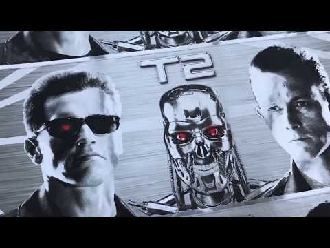 Terminator 2 Pinball REAL Chrome Decals