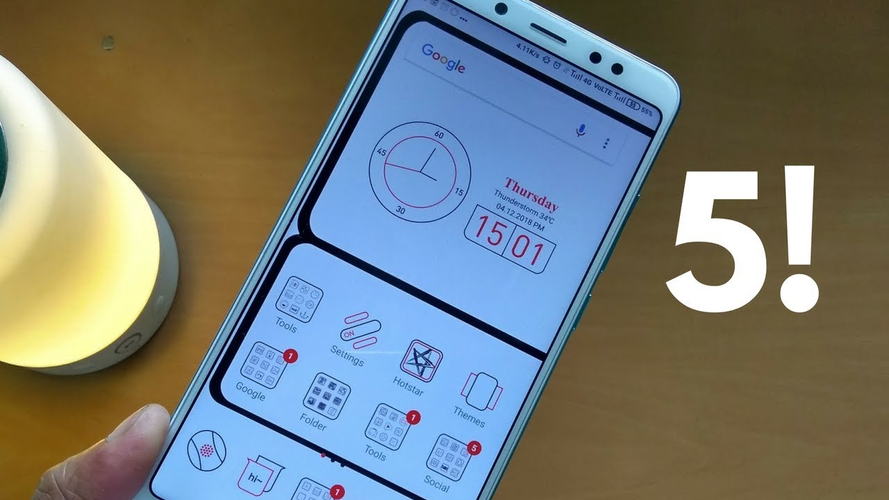 Top 5 Miui Themes Make Your Redmi Note 5 Pro Look Incredible Youtube