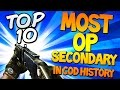 """MOST OVERPOWERED SECONDARY"" In Cod History (Top Ten - Top 10) ""Call of Duty"" 