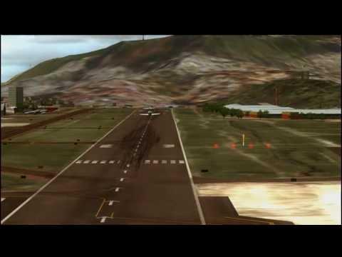 Landing Toncontin International Airport MHTG Aeropostal Venezuela MD80 FSX