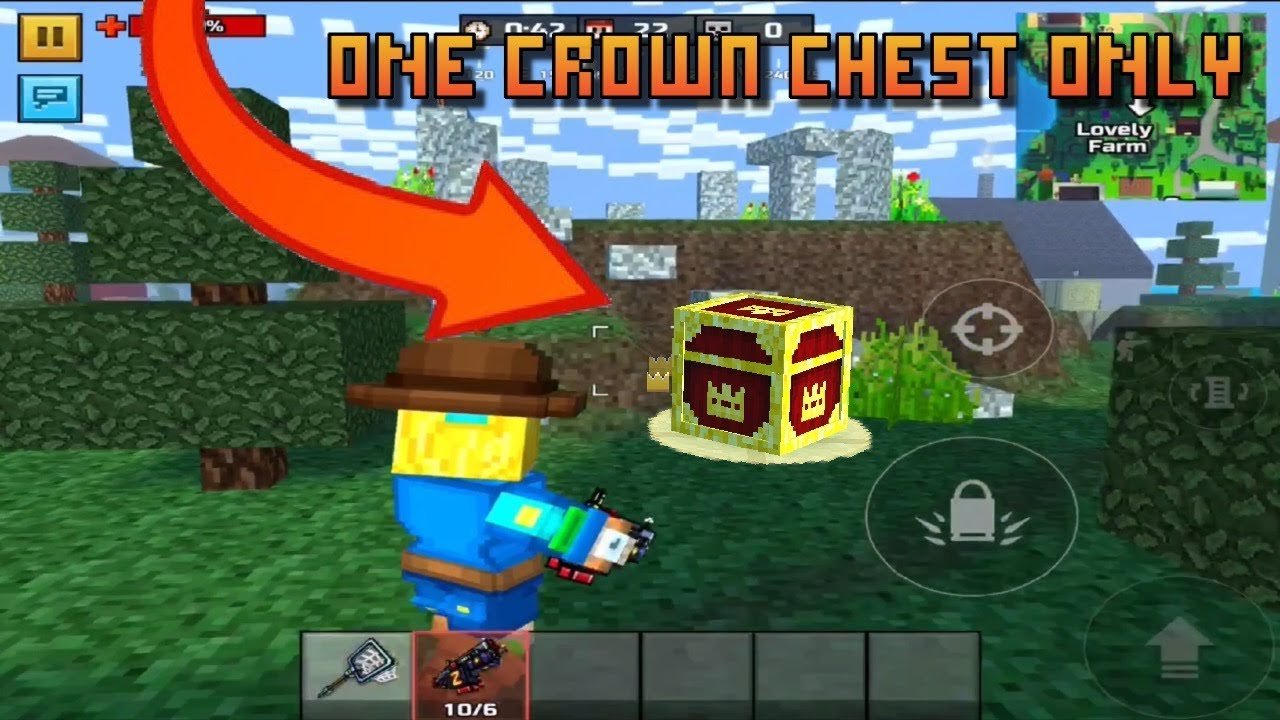 Pixel Gun 3d ONE CROWN CHEST CHALLENGE ONLY In Battle Royale