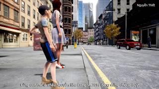 Mô phỏng vụ tai nạn oto điên tông 2 mẹ con đứng chờ xe buýt VIDEO 2K