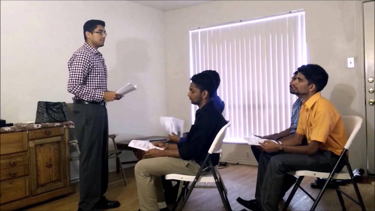 demonstration speech how to make good resume