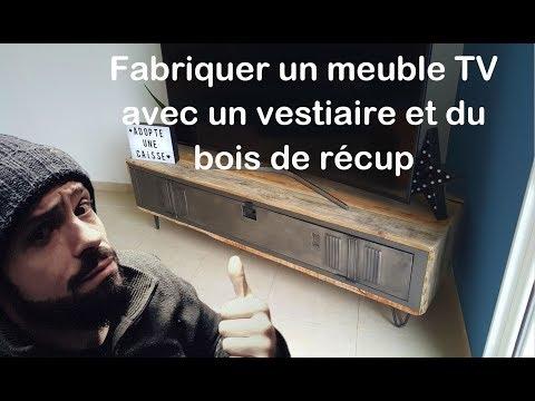 [ TUTO TIMELAPSE ] COMMENT FABRIQUER UN MEUBLE TV VESTIAIRE  by Adopteunecaisse MAKER