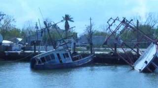 Hurricane Ike San Leon Shrimp Boat Canal 6 month aftermath