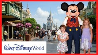 A Fun Day at Walt Disney World Magic Kingdom with Disney Princesses & Meeting REAL LIFE MICKEY MOUSE