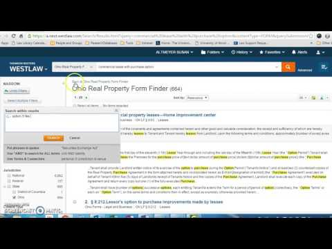 Finding Forms on Westlaw - YouTube