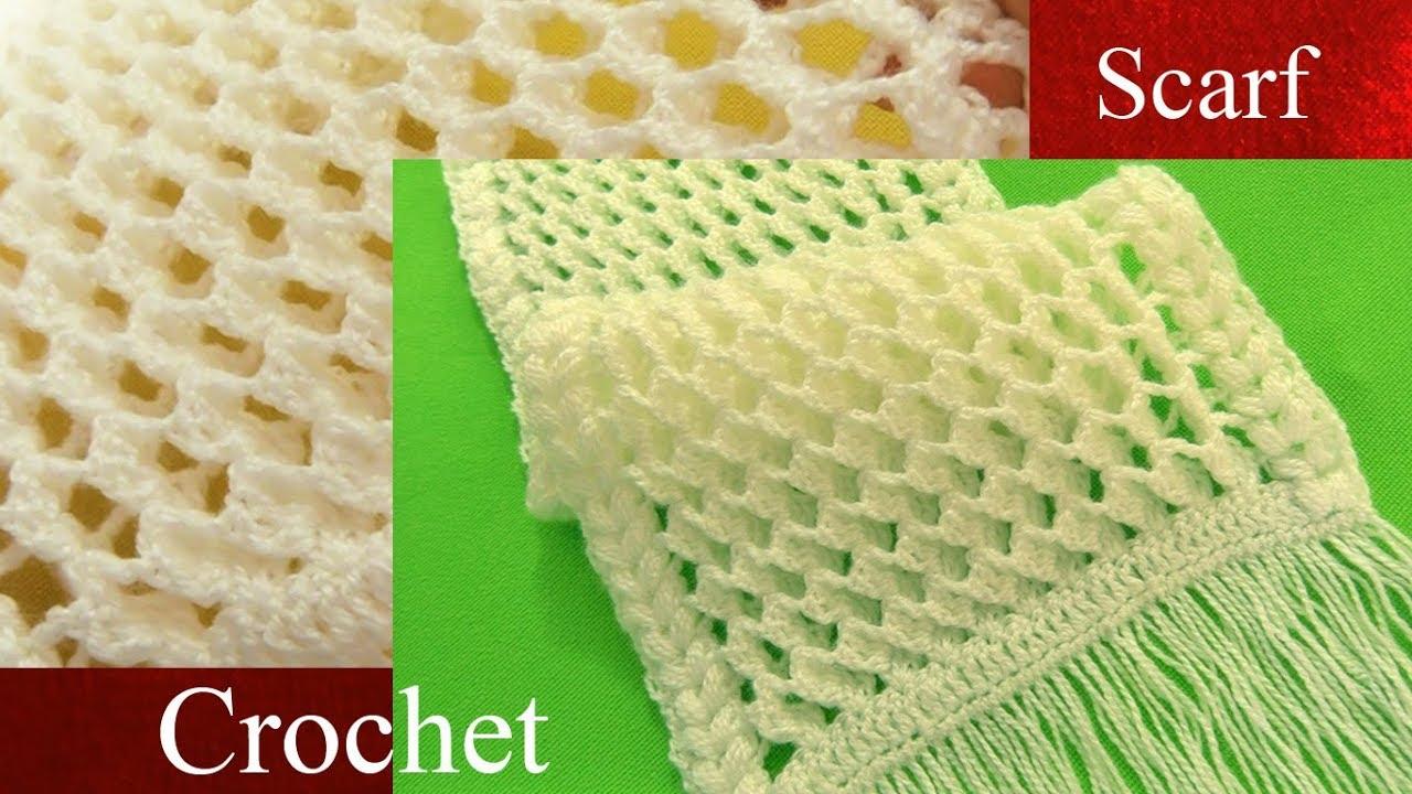 Bufanda a Crochet en punto 3D panal o nido de abeja tejido ...
