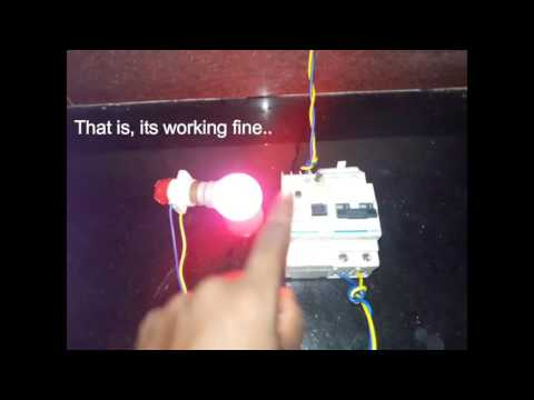 Test an RCCB / RCD / RCBO ( Trip Test)