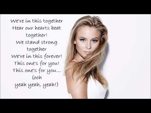 David Gueta feat Zara Larsson -This One's for You lyrics