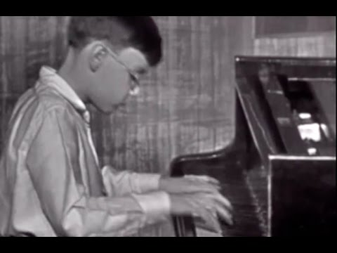 young Zoltan Kocsis plays Bach Invention no. 8 - video 1963